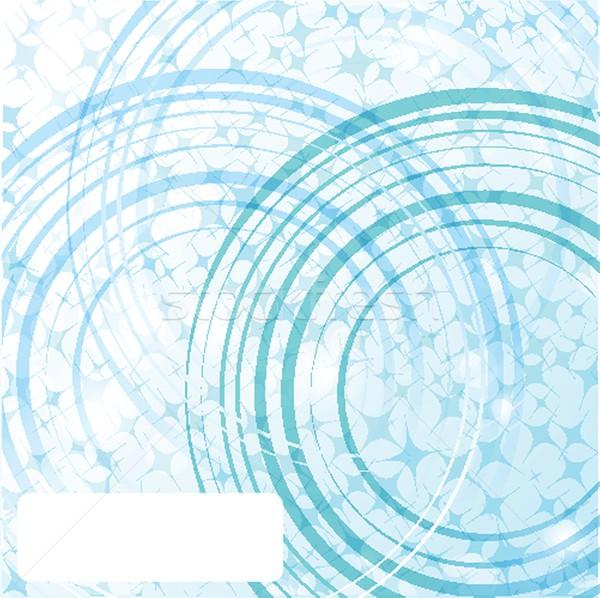 Néon lumières design graphique résumé design bleu Photo stock © mcherevan