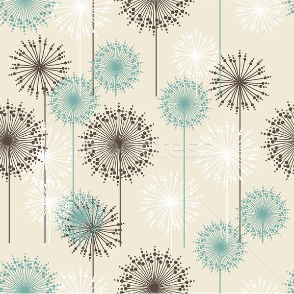 Vintage flower pattern Stock photo © mcherevan