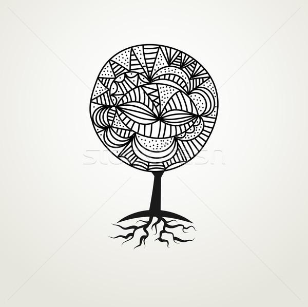 декоративный декоративный аннотация болван дерево можете Сток-фото © mcherevan