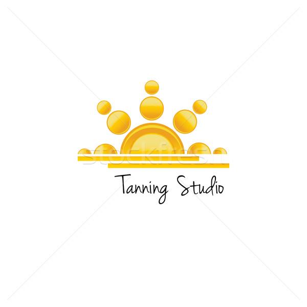 Tanning studio logo concept. Vector illustration Stock photo © mcherevan