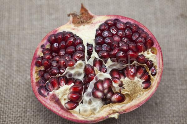 Törött darabok piros bogyók porcelán tányér Stock fotó © mcherevan