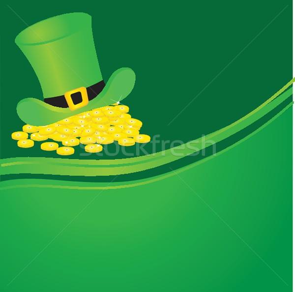 background with leprechaun or gnome on patrick day Stock photo © mcherevan