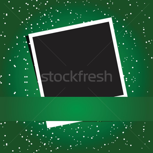 Polaroid бумаги фон черный ретро фото Сток-фото © mcherevan