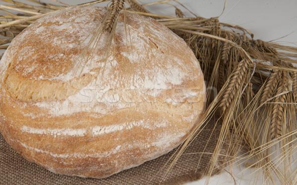 Stok fotoğraf: Beyaz · somun · ev · yapımı · ekmek · tablo · çavdar