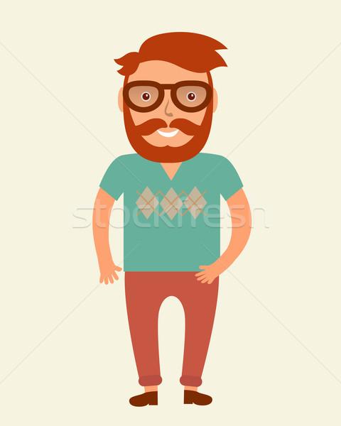 Man stijl jonge baard illustratie Stockfoto © mcherevan