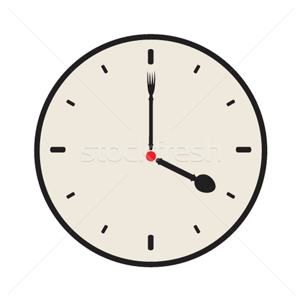 Vector old vintage clock face Stock photo © mcherevan