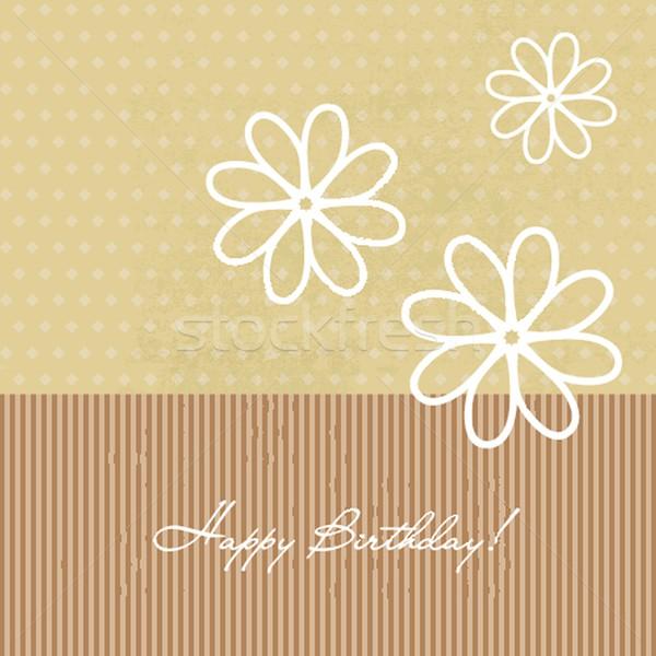 Сток-фото: поздравление · цветы · рождения · объявление · карт