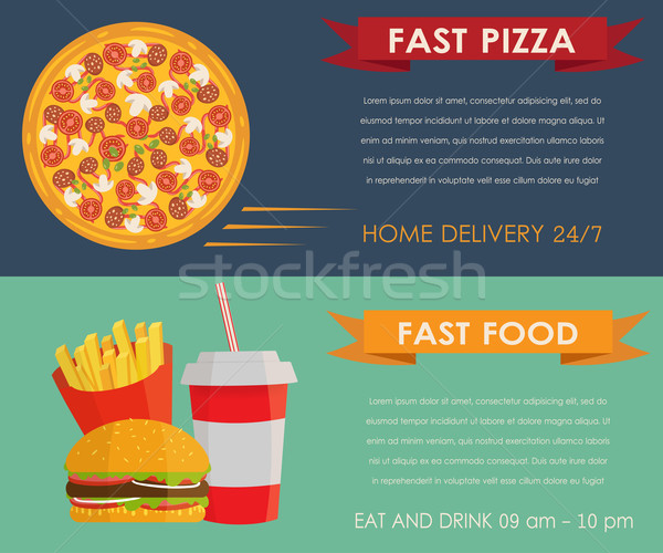 Fast food concept banners set Stock photo © mcherevan