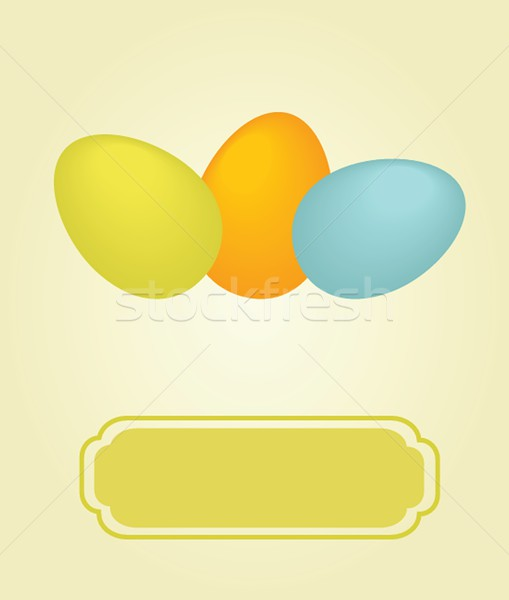 Foto stock: Páscoa · cartão · dois · ovos · abstrato