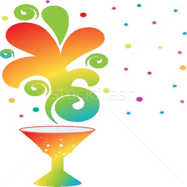 colourful coctail on the black background Stock photo © mcherevan