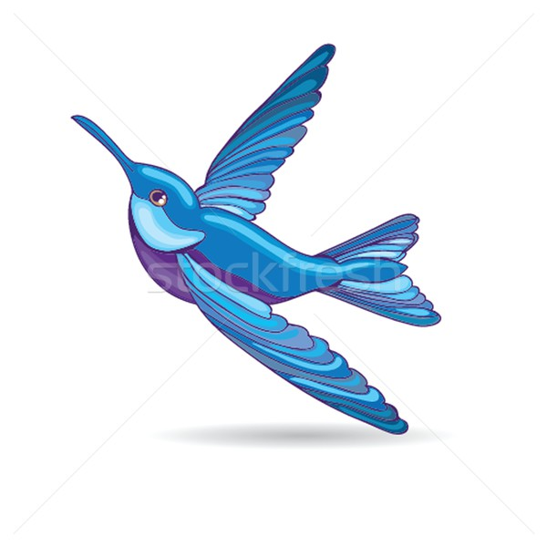 Blue hummingbird, vector illustration Stock photo © mcherevan