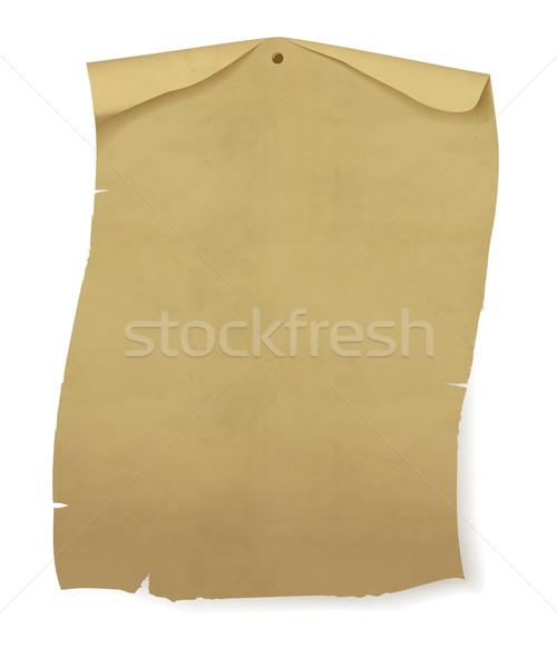 Oud papier vel muur papier boek kaart Stockfoto © mcherevan