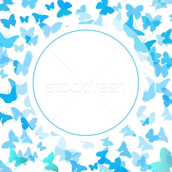 Abstract farfalla blu farfalle soft colori Foto d'archivio © mcherevan