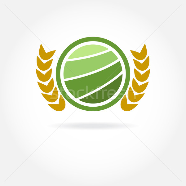 Green healthy nature agricultural logo. Stock photo © mcherevan