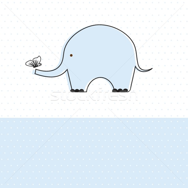 Baby boy shower card with cute elephant Stock photo © mcherevan
