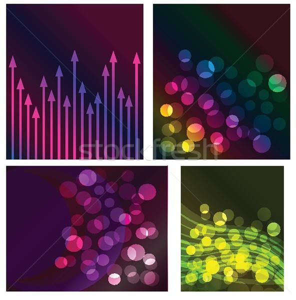 Neon lichten grafisch ontwerp abstract ontwerp Blauw Stockfoto © mcherevan
