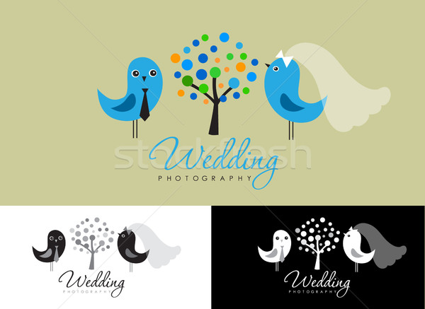 Vintage hipster logo collection for wedding photographer Stock photo © mcherevan