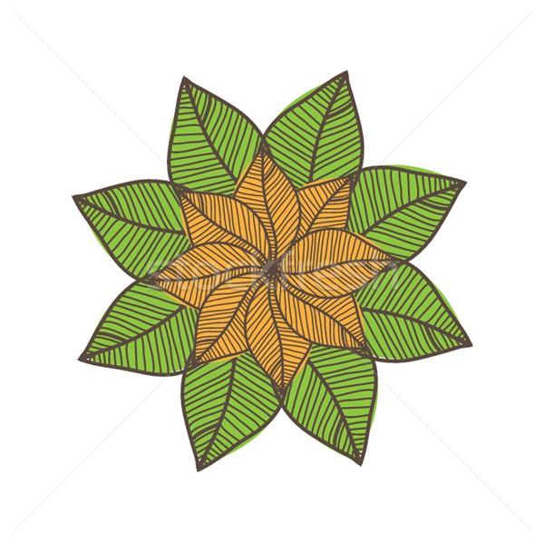 Colorful autumn leaves. Vector illustration. Stock photo © mcherevan
