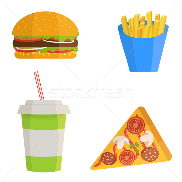 Fast food concept  Stock photo © mcherevan