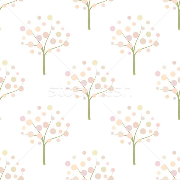 Decorative trees background Decorative trees seamless pattern.  Stock photo © mcherevan