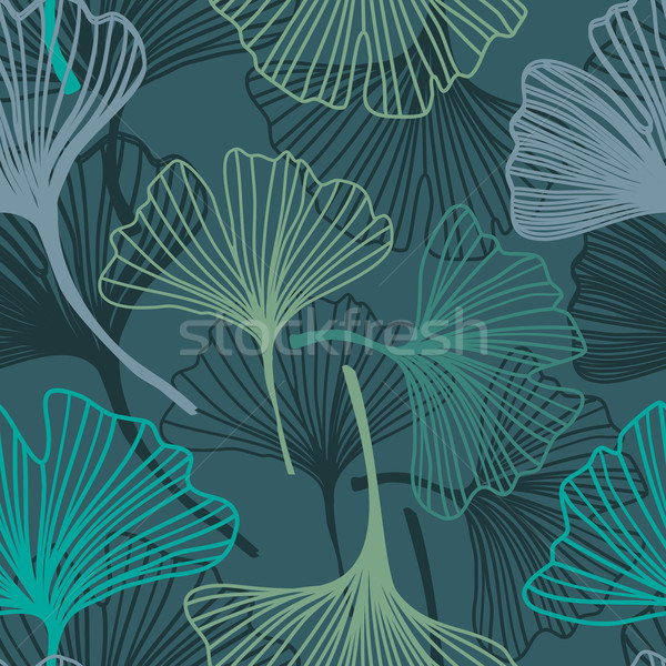 Ginkgo seamless pattern in soft colors. Stock photo © mcherevan