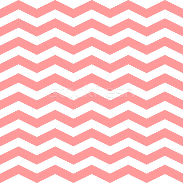 Chevron Zigzag seamless pattern. Vector pink and white colors pattern. Seamless texture for girly de Stock photo © mcherevan