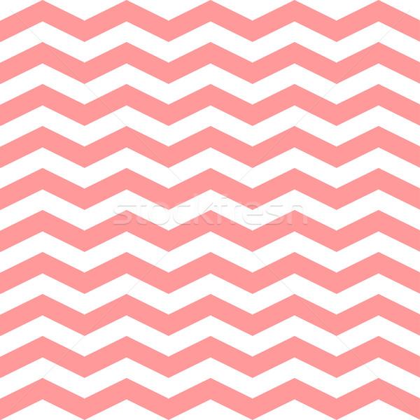 Zigzag vector rosa blanco colores Foto stock © mcherevan