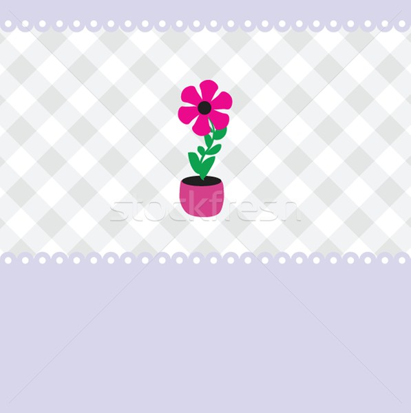 Vector illustration of growing plant  flower in pot. Stock photo © mcherevan