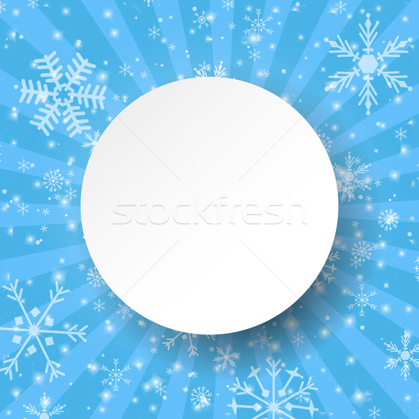 Abstract light blue christmas card. Stock photo © mcherevan