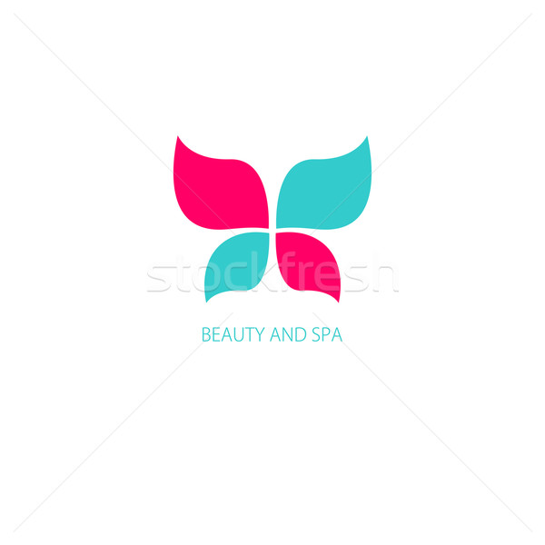 Stock photo: Vector illustration with Butterfly symbol.