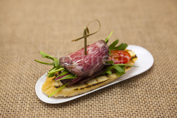 Fresco delicioso espanhol tapas carne Foto stock © mcherevan