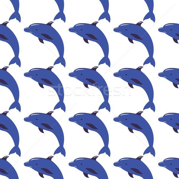 Bezszwowy wektora delfiny projektu dar Zdjęcia stock © mcherevan