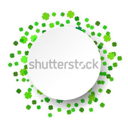 Csillogó konfetti zöld ünneplés terv háttér Stock fotó © mcherevan
