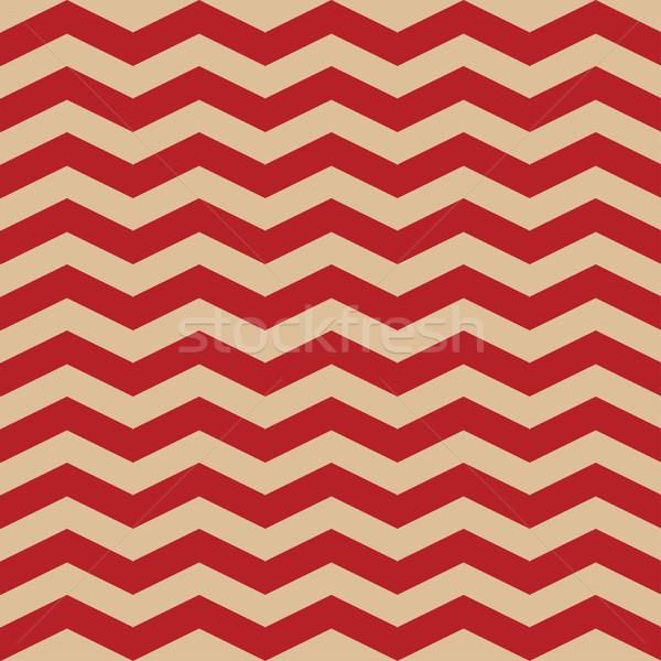 Naadloos zigzag patroon Rood witte vector Stockfoto © mcherevan