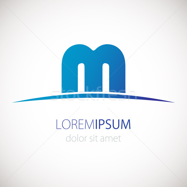 Letter M logo icon. Vector design template. Blue business logotype. Stock photo © mcherevan