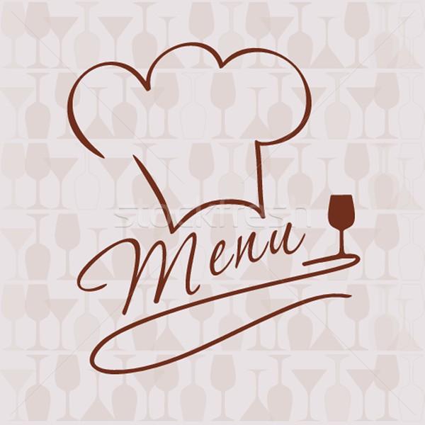 Restaurant · bar · Menü · Liste · Illustration · Chef - vektor ...