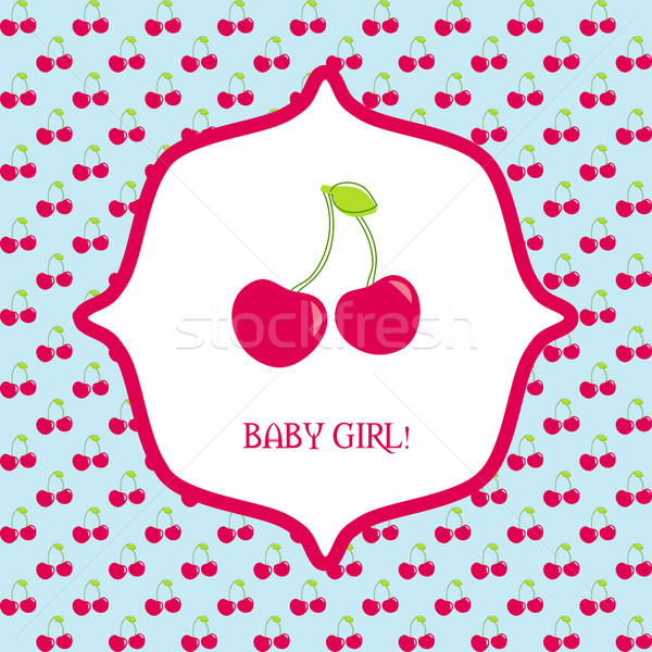 Vector cute greeting card It's a boy Stock photo © mcherevan