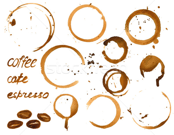 Vector coffee house menu or list design .  Stock photo © mcherevan