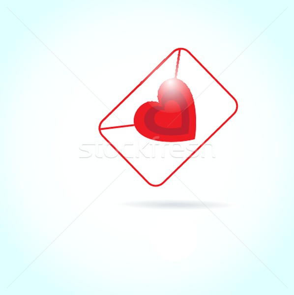 Stock photo: Cute vector background with vintage hearts