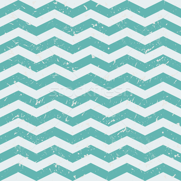 Seamless Chevron Patterns  Grey and blue vector background Stock photo © mcherevan