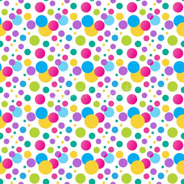 Seamless variegated polka dot pattern.  Stock photo © mcherevan