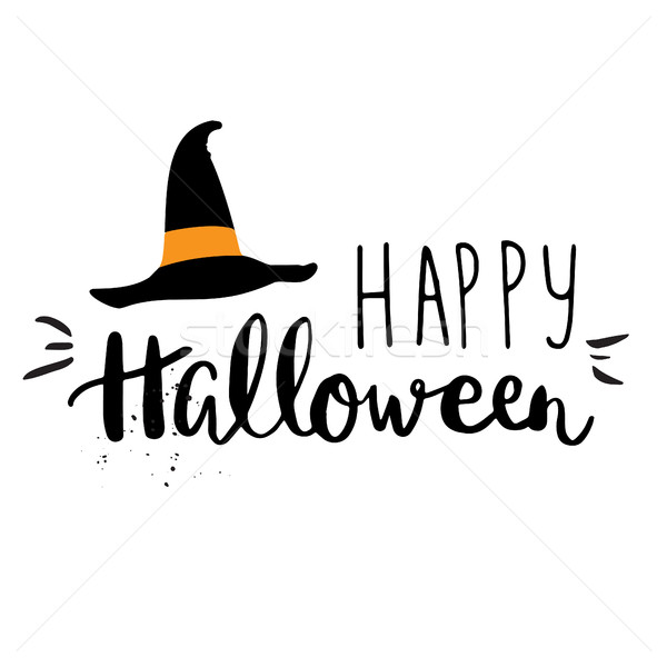 Halloween party vector greeting card Stock photo © mcherevan