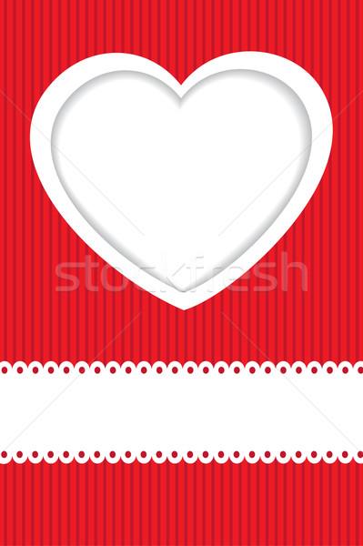 праздник карт сердце бумаги посмотреть Сток-фото © mcherevan