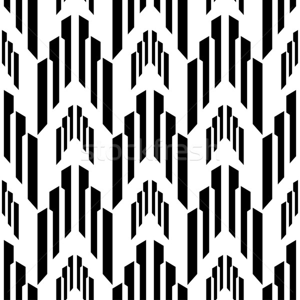 Abstract black and white background, industrial vector seamless pattern Stock photo © mcherevan