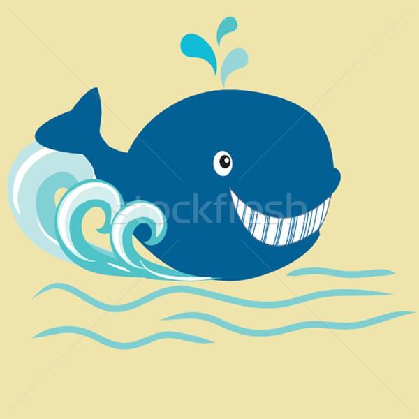Whale cartoon Stock photo © mcherevan