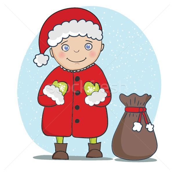 Natale capodanno 2015 vacanze babbo natale biglietto d'auguri Foto d'archivio © mcherevan