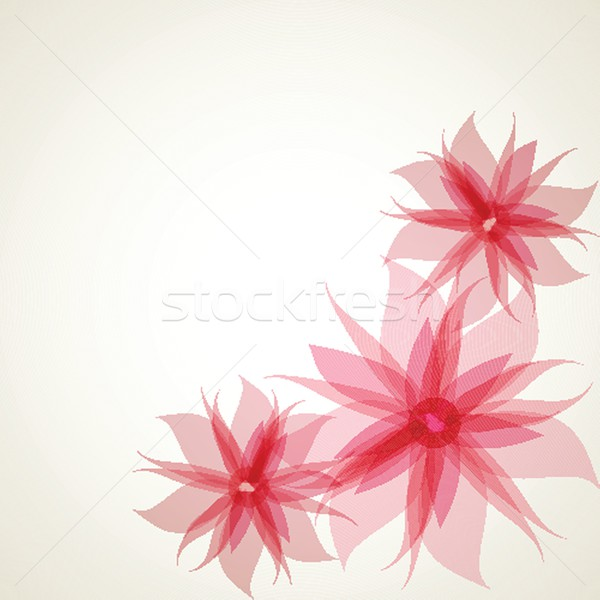 Vintage floral tarjeta flores primavera amor Foto stock © mcherevan