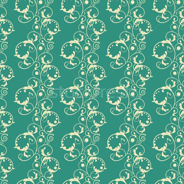 Stock photo: Seamless damask carpet pattern. Vintage vector illustration Print
