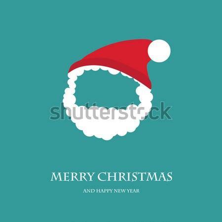 Cute kerstman icon bruin mode Stockfoto © mcherevan