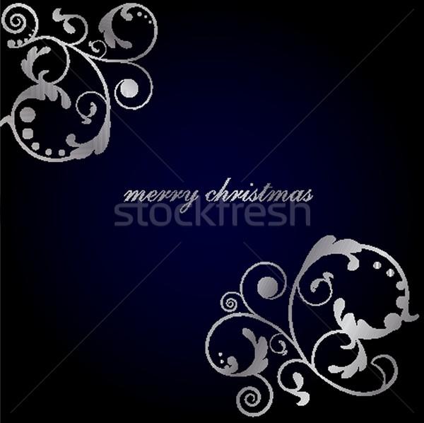 Christmas background with Christmas tree, vector illustration. Stock photo © mcherevan